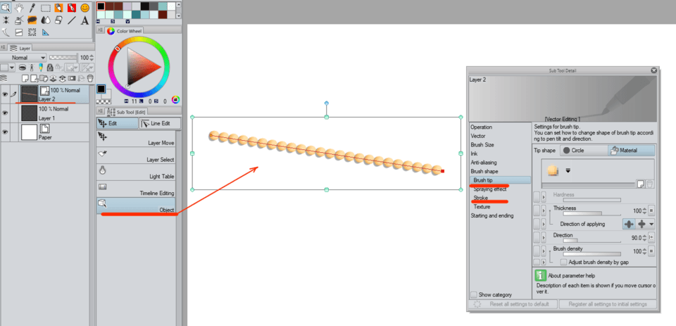 How Change Pen Line Into Dotted Line Clip Studio Ask