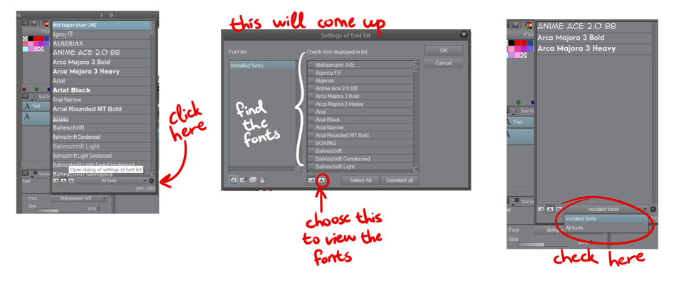 Search Fonts - CLIP STUDIO ASK