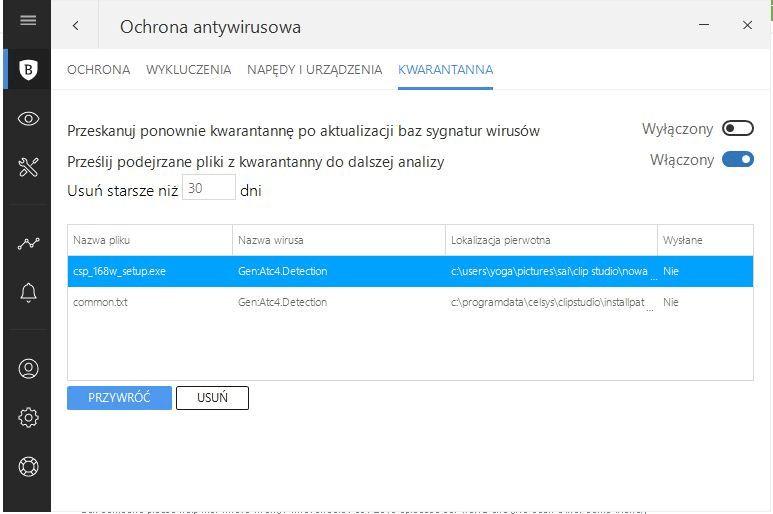 After installing the last update, my antivirus program